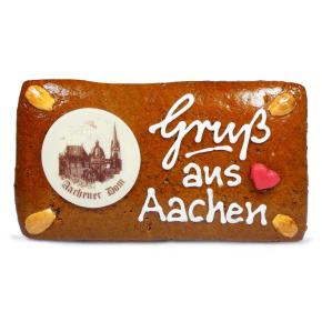 "Printenplatte ""Gruß aus Aachen"""